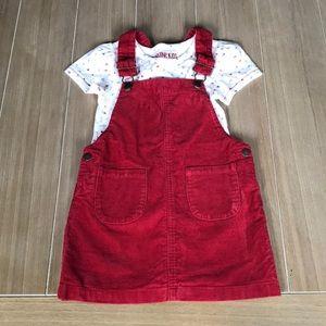 Genuine Kids from Osh Kosh Corduroy Skirt Set Sz 4